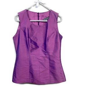 Tops - Purple Pink Iridescent Raw Silk Blouse Size Med